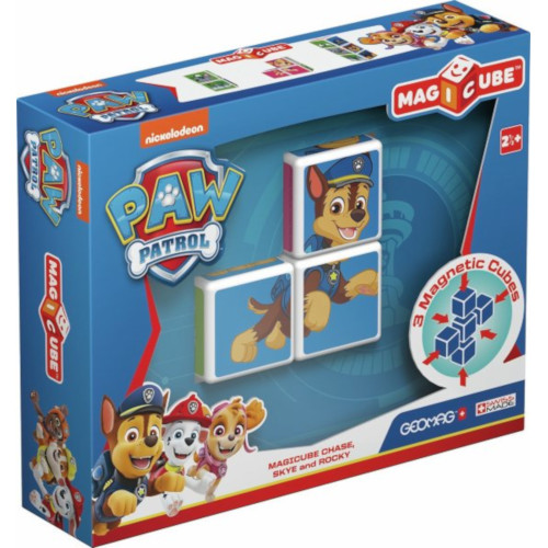Geomag - Set Constructie Magnetic Magicube Paw Patrol Chase, Skye si Rocky