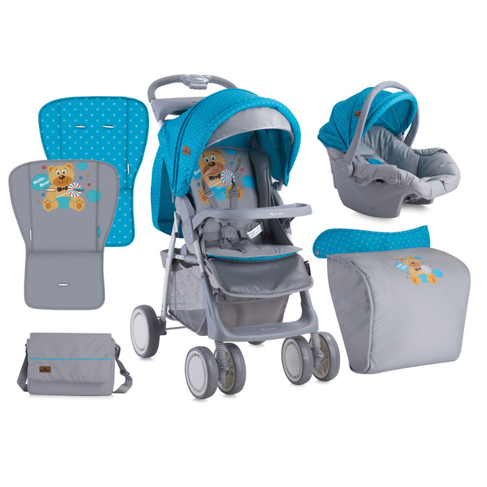 Carucior Set Foxy Blue & Grey Hello Bear 2017