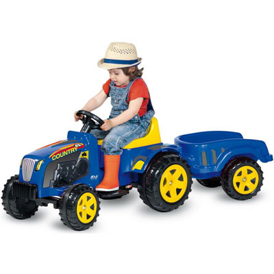 COUNTRY tractor electric cu remorca
