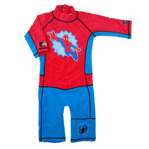 Costum de baie Spiderman protectie UV