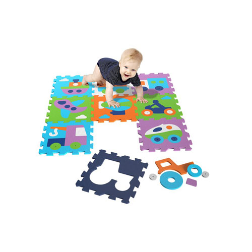 Knorrtoys Covor puzzle din spuma Vehicles 9 piese