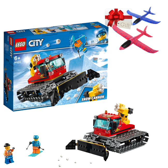 LEGO City - Great Vehicles - Compactor de zapada 60222 + Cadou avion pasare