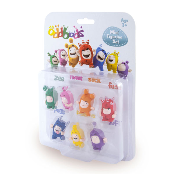 Oddbods Set 7 mini-figurine