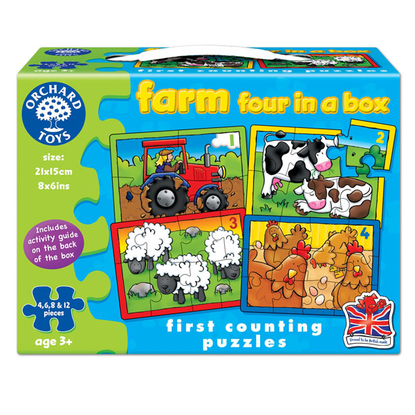 Set 4 Puzzle La ferma (4 6 8 si 12 piese) Farm Four In A Box