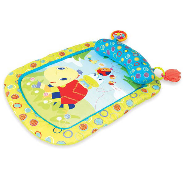 Bright Starts Tiny Turtle and Friends Prop and Play Mat
