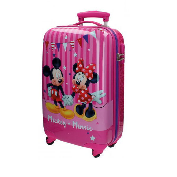 Troler ABS 55 cm 4 roti Mickey&Minnie Party