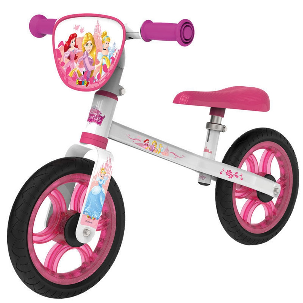 Smoby - Bicicleta fara pedale First Bike Disney Princess