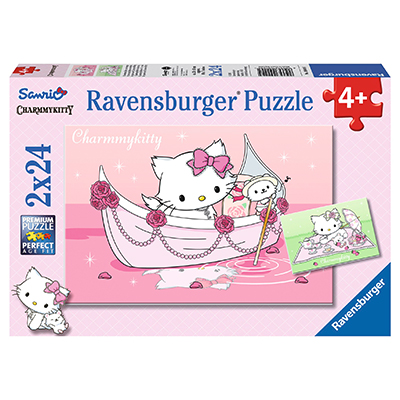 PUZZLE HELLO KITTY, 2x24 PIESE