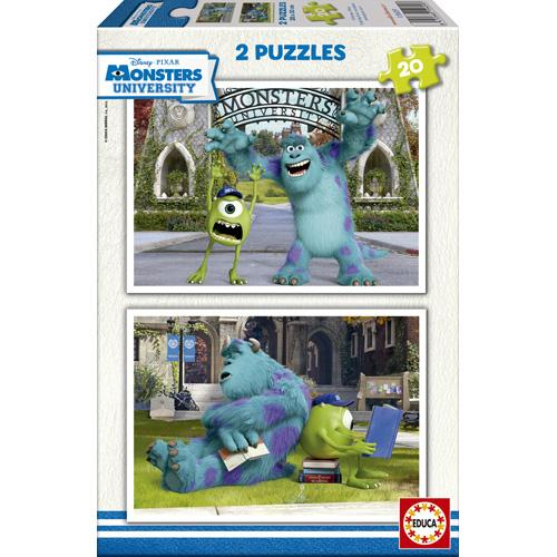 Puzzle Monsters University 2 x 20 piese