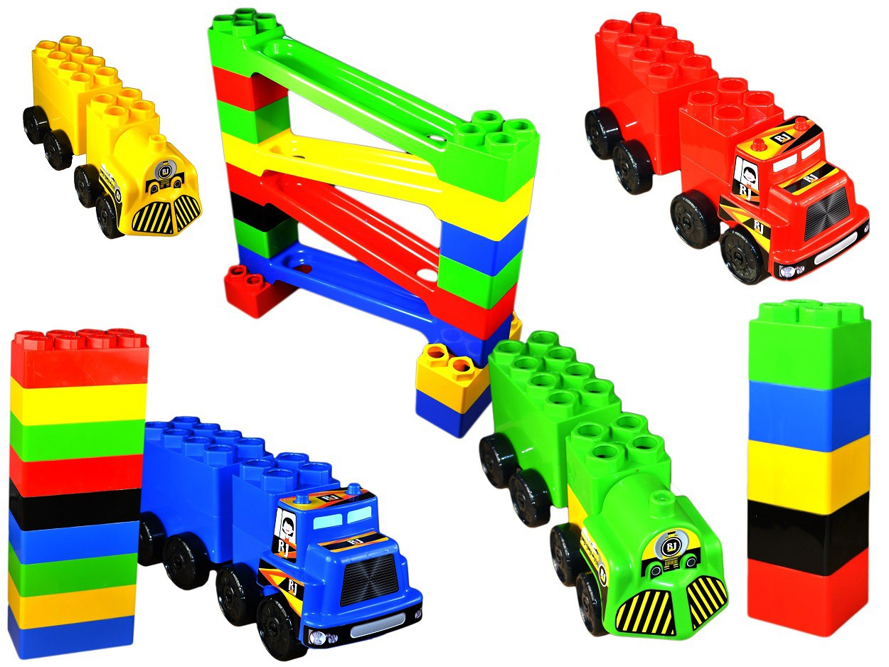 Super Plastic Toys - Set de constructie gigant Car Race
