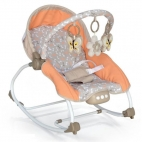 Baby Mix - Balansoar muzical cu vibratii 2 in 1 Beverly - Orange