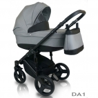 Carucior copii 3 in 1 Bexa D'angela Grey Black