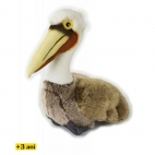 Jucarie din plus National Geographic Pelican brun 30 cm
