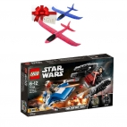 LEGO Star Wars - A-Wing contra TIE Silencer Microfighters 75196 + Cadou avion pasare