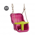 Leagan Baby Seat LUXE purple lime green PP 10