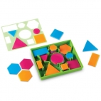 Learning Resources Forme geometrice cu sablon