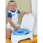 Summer Infant Olita All-in-One Potty Seat and Step Stool Albastru
