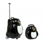Peko the Penguin (ghiozdan si valiza tip trolley)