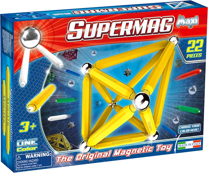 SUPERMAG MAXI ONE COLOR - SET CONSTRUCTIE 22 PIESE