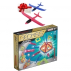 Geomag - Set Constructie Magnetic Glitter 44 GEOGLI532 + Cadou avion pasare