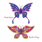 Set 2 bucati Fluturasul magic Rainbow Wing si Purple Queen