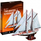 Two Masted Schooner Puzzle 3D