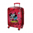 Troler ABS 55 cm 4 roti Retro Comic Red