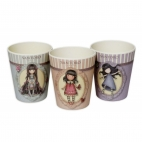 Gorjuss Set 3 pahare bambus - Rosebud - Time to fly - Tiptoes