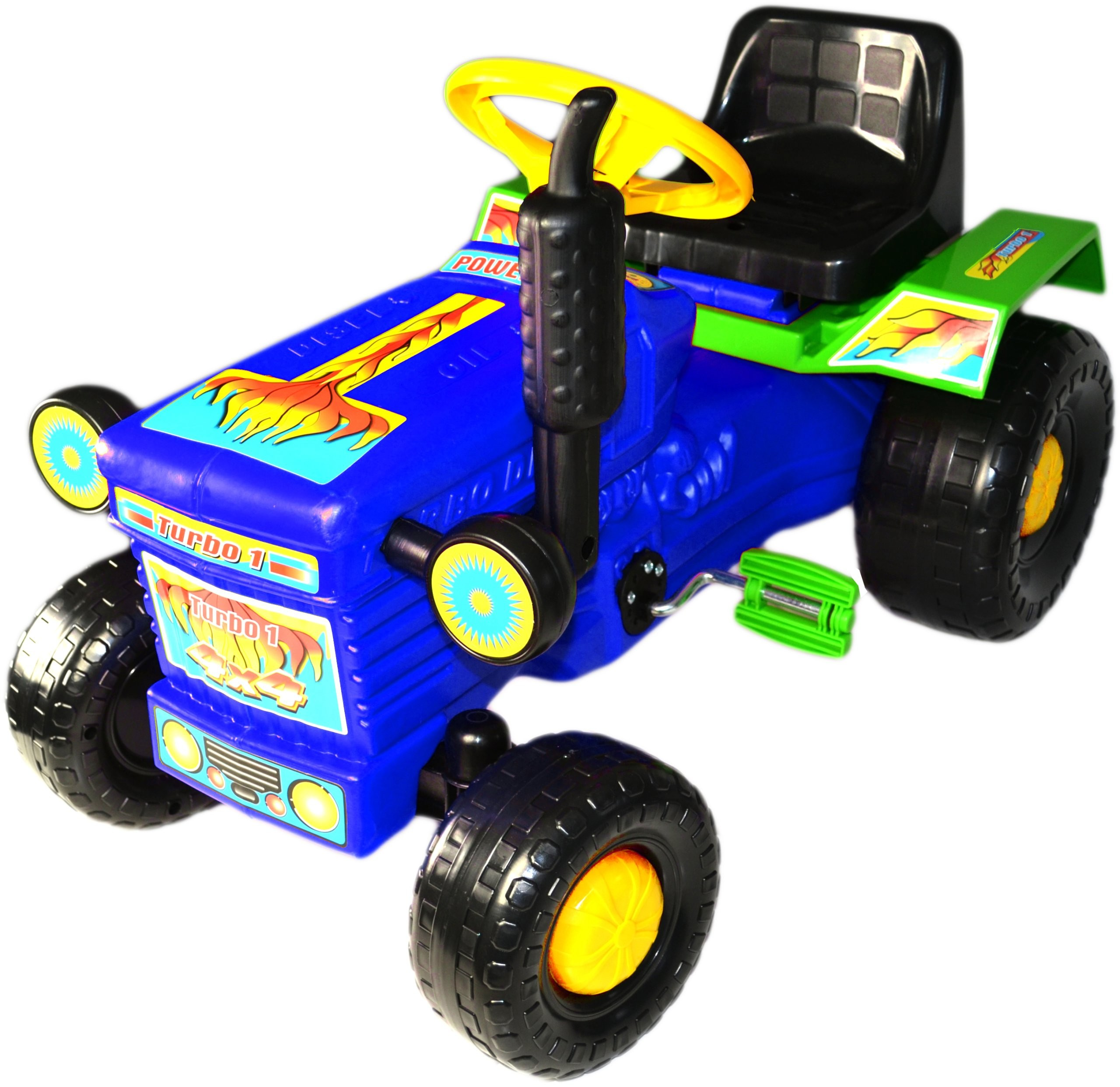 Super Plastic Toys - Tractor cu pedale Turbo blue