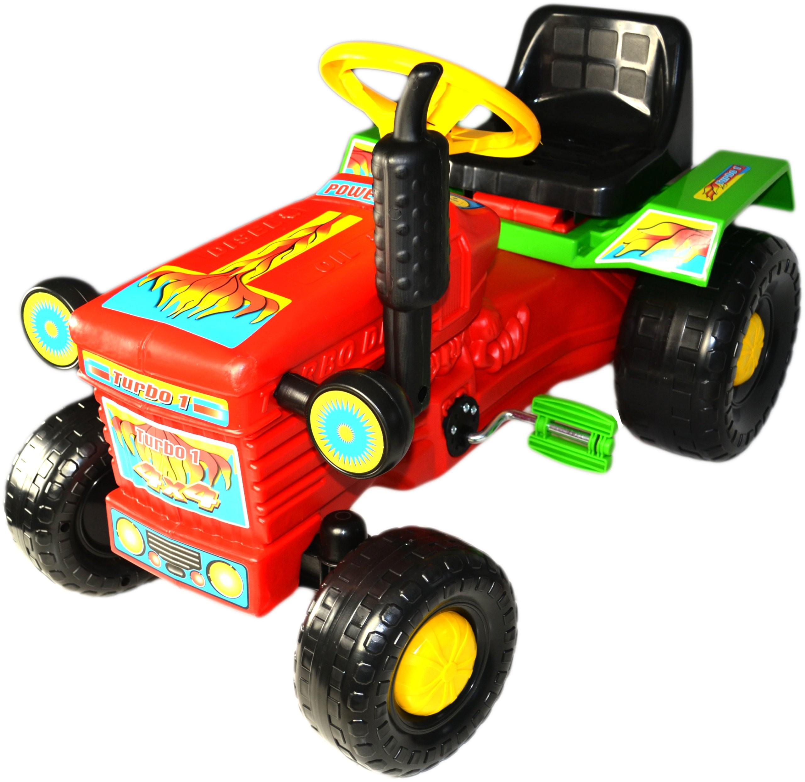 Super Plastic Toys - Tractor cu pedale Turbo red