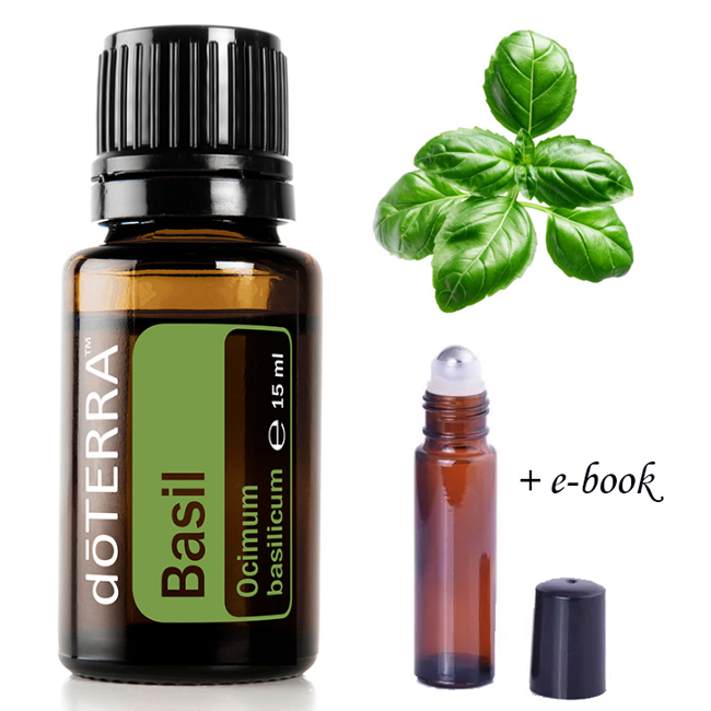 doTERRA ulei esential Basil - Busuioc - Ocimum basilicum 15ml + recipient roll-on + e-book