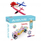 MAGPLAYER Joc de constructie magnetic - Advanced Set 88 pcs + Cadou avion pasare